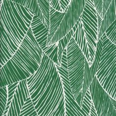 Fabric combining two of the year's key trends - emerald green and botanical patterns. Plant Illustration, Watercolor Illustration, Pattern Paper, Fabric Patterns, Fabric Rug, Pretty Patterns, Textile Prints, Surface Design, New Art