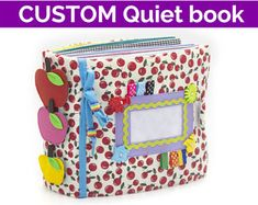 CUSTOM Quiet Book, montessori book, busy book, educational toy, thread quiet book, activity book, soft book, developmental toys