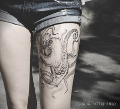 Octopus with Anchors tattoo - 55 Awesome Octopus Tattoo Designs  <3 <3