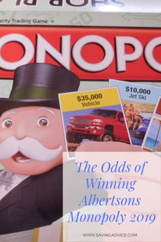 graphic about Albertsons Monopoly Game Board Printable called 15 Great Albertsons Monopoly 2019 photographs Activity areas
