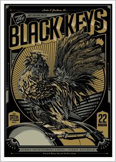 Rare Mini Print/Poster - Size: A4 (Approximately: 21 cm x 29.7 cm) 8.27 inches x 11.7 inches. Gig Poster, Concert Posters, Poster Prints, Artwork Prints, Graphic Prints, Movie Posters, Rock Posters, Band Posters, The Black Keys