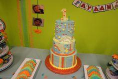 Ayaan's dinosaur cake!