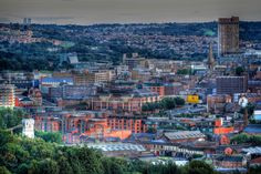 HDR Cityscape of Sheffield taken from near Ski Village by Chris Pietnik Local History, Family History, Sheffield Steel, Sheffield England, British Things, South Yorkshire, Urban City, Derbyshire, South Of France