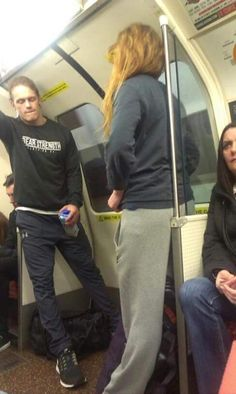 Imagine boarding your train/bus and finding Sam ......
