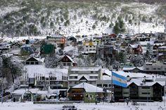 Ushuaia en invierno, Tierra del Fuego, Argentina