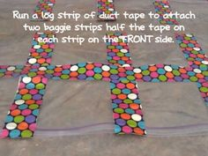 A tutorial on how to make a student work display quilt out of baggies and duct tape.