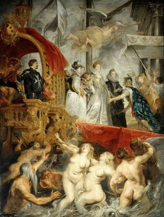 painting arrival of medici Peter Paul Rubens, Rubens Paintings, Art Through The Ages, Oil On Canvas, Canvas Prints, Art Reproductions, Painting & Drawing, Holland, Original Artwork