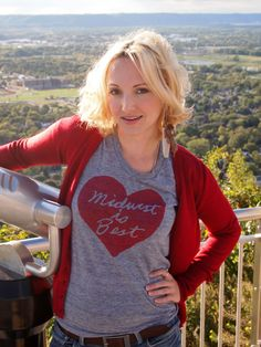 Women's Midwest is Best Tshirt in Gray and Red  by meganleedesigns, $28.00 (Size L)