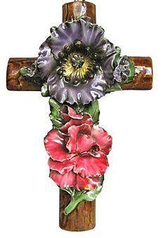 Majolica Cross ... Used On Graves