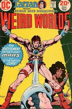 "John Carter cover by Howard Chaykin (I have raw excitement already) in a hastily-finished storyline (Howie pinups his Ironwolf space barbarian that appears next issue). Also concluded: The Pellucidar arc (this lost arc will be found when reverse-engineered as ""The Warlord"")."