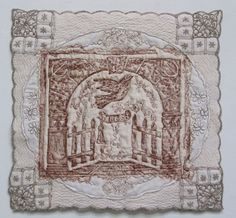 cemetery quilts | Above: At Rest in Arkansas , Grave Rubbing Art Quilt