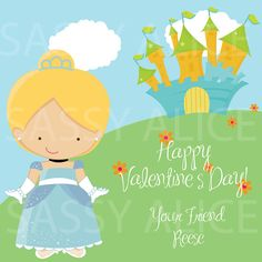 Cinderella Class Valentine Cards  Printed or by SassyAlice2, $6.00