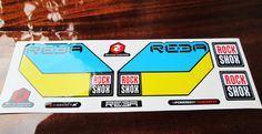 Rock shox Reba Fork Replacement /Colored sticker on от Velomoto
