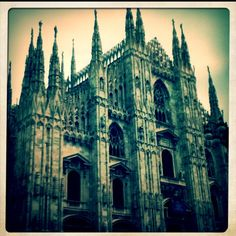 Milano, Duomo, passed the church every day and the gelateria every so often ;)
