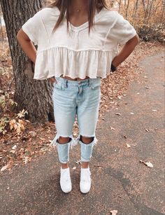 Casual School Outfits, Trendy Summer Outfits, Cute Teen Outfits, Cute Comfy Outfits, Basic Outfits, Preppy Outfits, Teenager Outfits, Teen Fashion Outfits, Modest Outfits