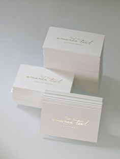 Silver foil on white business card http://presshausla.com/