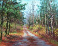 "Daily Paintworks - ""Evergreen Trail"" - Original Fine Art for Sale - © Suzanne Poursine-Massion"