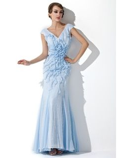 Evening Dresses - $195.99 - Trumpet/Mermaid V-neck Floor-Length Chiffon Sequined Evening Dress With Beading Flower(s) Cascading Ruffles  http://www.dressfirst.com/Trumpet-Mermaid-V-Neck-Floor-Length-Chiffon-Sequined-Evening-Dress-With-Beading-Flower-S-Cascading-Ruffles-017050024-g50024