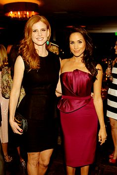 Sarah Rafferty and Meghan Markle attend the ELLE's Women in Television Celebration on January 24, 2013