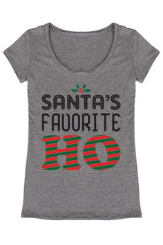 7743c5057fd5f Santa s Favorite Christmas Holiday Graphic T-Shirt – Niobe Clothing Family  Christmas