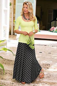 Soft Surroundings Mia maxi skirt