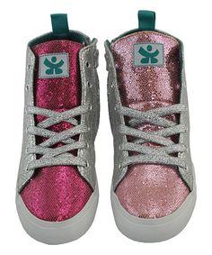 Pink Hot Pink Reach Hi-Top Sneaker