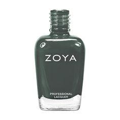 Zoya * Evvie * Smoky Teal Grey Cream Nail Polish Lacquer