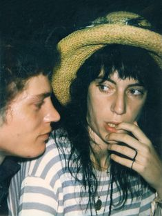 Robert Mapplethorpe and Patti Smith, ca. 1972, by Andy Warhol (New edit)