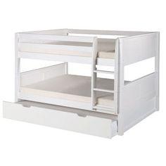 Camaflexi Camaflexi Full over Full Bunk Bed with Trundle Finish: White
