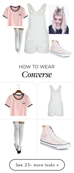 """""""Book"""" by bellmel-mo on Polyvore featuring Topshop and Converse"""