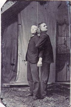 [two friends hanging together] via Not on Your Tintype: Collection of American Tintypes, Vol. Old Photos, Vintage Photos, Before Us, Memento Mori, Scary, Creepy Stuff, Vintage Photography, Macabre, Death
