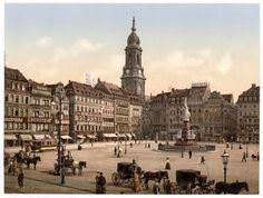So sah der Dresdner Altmarkt um 1900 aus: