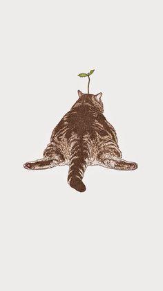 62 Ideas For Cats Illustration Wallpaper I Love Cats, Crazy Cats, Cute Cats, Funny Cats, Cat Wallpaper, Trendy Wallpaper, Art And Illustration, Cat Illustrations, Cat Drawing