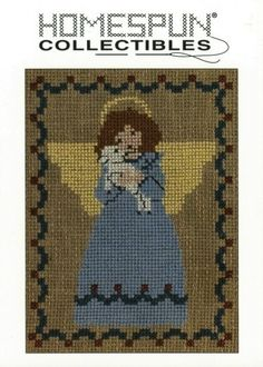 Homespun Collectibles Counted Cross Stitch Angel by straphaelwomen