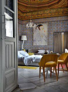 Antique & modern bedroom