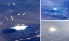 RiseEarth : American Airlines Passenger Takes Photos of 'UFO' Giving off Bright Lights and Orbs Near 'Area 51'