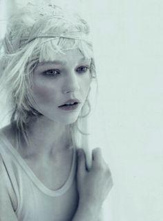 "Sasha Pivovarova in ""A White Story"", photographed by Paolo Roversi for Vogue Italia April 2010."
