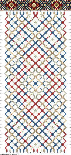 Muster # 78791, Streicher: 18 Zeilen: 40 Farben: 4