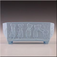 Sowerby Victorian Blue Milk Glass Posy Trough - Marked - £29.99