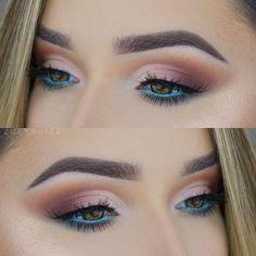 Makeup Eye Looks, Day Makeup, Eye Makeup Tips, Pretty Makeup, Skin Makeup, Eyeshadow Makeup, Beauty Makeup, Makeup Ideas, Blue Eyeshadow