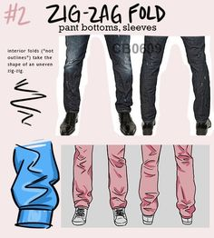 Drawing Tips zig zag fold - Digital Painting Tutorials, Art Tutorials, Drawing Tutorials, Drawing Reference Poses, Design Reference, Anatomy Reference, Drawing Techniques, Drawing Tips, Poses References