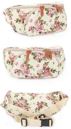 Flower Pattern Waist Bag Pack Hip Sack Fanny Pack Bag | eBay.. NEED THIS