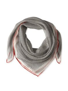 61% OFF Terracotta New York Women's The Sidney Striped Scarf, Black/White/Red
