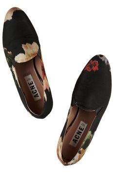 Acne Studios - Noa floral-print canvas loafers