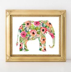 Nursery Printable Art Elephant printable by GracieLouPrintables Elephant Wall Art, Baby Girl Elephant, Elephant Nursery, Nursery Paintings, Nursery Prints, Nursery Art, Nursery Ideas, Baby Girl Nursery Decor, Boho Nursery