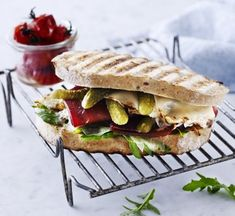 This Bresaola sandwich with parmesan and gherkins gives you a true taste of Italy fresh from your Weber