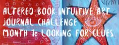 Altered book intuitive art journal challenge 2017