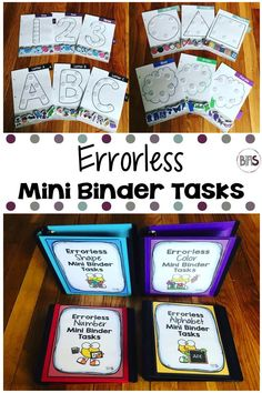 Errorless tasks are great for any special education or early childhood classroom.  Errorless learning consists of providing an immediate prompt so the individual makes the correct response. This ensures success and can increase independence with tasks.  These mini binder tasks are arranged in a such a way, that the icons which correspond to the image are located at the bottom of the page. The beauty of these tasks is that there is no wrong answer!