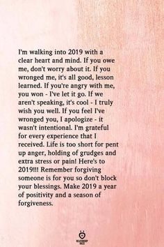 Walking Into 2019 With A Clear Heart And Mind new year new year quotes new year 2019 Quotes About Moving On In Life, Quotes About New Year, Year End Quotes, Positive Thoughts, Positive Quotes, Positive Vibes, Life Thoughts, Happy Quotes, Life Quotes