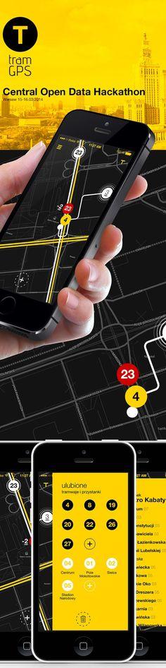 tram gps app #hackaton by Michal Galubinski, via Behance
